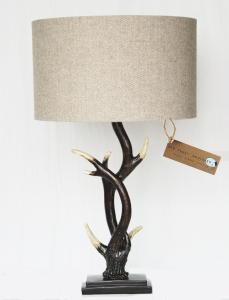 Buckhorn lamp. Herringbone Beige wool shade