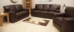 Leather lounge Kinsale Tile Store